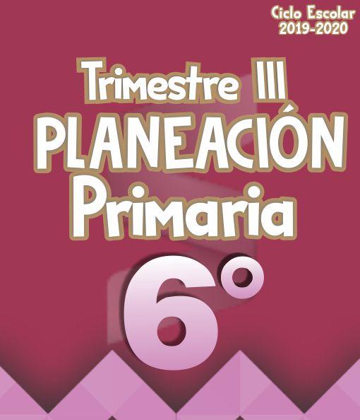 Planeación Argumentada 6° Grado de Primaria – Ciclo Escolar 19-20 (Trimestre III)