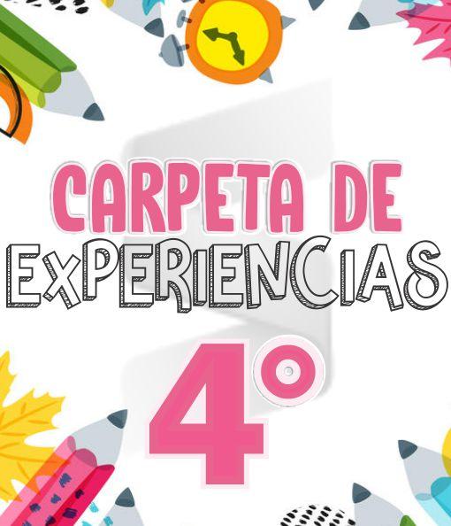 CARPETA DE EXPERIENCIAS Aprende en Casa - Primaria Cuarto Grado 2019 - 2020