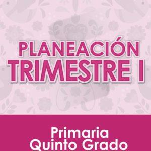 Planeación Primer Trimestre - Quinto Grado Primaria 2020 - 2021