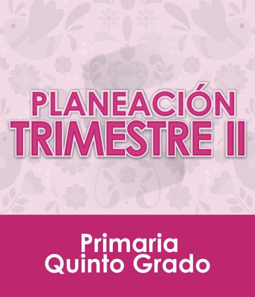 Planeación Segundo Trimestre - QUINTO Grado Primaria 2020 - 2021